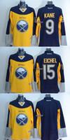 best buffalo - 2015 Newest Men s Buffalo Sabres kane eichel blank yellow blue Ice Hockey Jerseys Best Quality Low Price