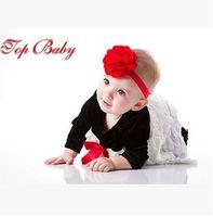 plastic hair comb - 2016 new European and American children s headwear Satin gauze flower baby hair band Supplying HD034