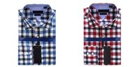 big checkers - Famous Luxury Brand Men s british style Shirt Plaid Checker Men Clothing Long Sleeve dress shirt Top Quality Big On Sale