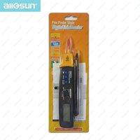 automotive dmm - all sun EM3213 Auto Range Pen Style Digital Multimeter DMM AC DC Volt Amp Ohm Integrated Automotive Tester Resistance Continuity