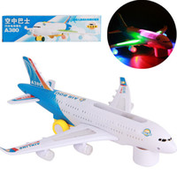 Wholesale Flash electric aircraft model air bus With music and light children electric vehicle toys airplane model