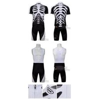 cycling jersey wholesale - new style amazing cycling jerseys skeleton cycling jersey Short Sleeves Bib tights Set Riding Clothes finland cycling jersey C00S