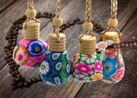 cosmetic bottles and jars - 10 ml Cosmetic Containers and Jars Ceramic Vials for Perfume ESSENTIAL OIL Bottle Home Decoration Car pendant hang decoration by DHL free