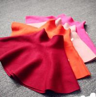 Wholesale Girls Skirts Autumn Wear European Children s Knitted Short Skirt Solid Color Tutu Dress Kids Midiskirt Child Clothing Colors