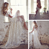 beach match - 2016 Elegant Beach Wedding Dresses Beaded Cap Sleeve V Neck Court Train Lace Bridal Gowns Matched Bow White Ivory Custom Made New W2001