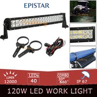 """Cheap 120W 22 inch EPISTAR Curved LED Light Bar Offroad Cambered Beam LED Work Light Truck Wagon Auto Vehicles + 2x 3"""" Bull Bar Clamps"""
