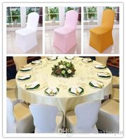 Wholesale Hot Sale Universal White spandex Wedding Party chair covers White spandex lycra chair cover for Wedding Party Banquet many color