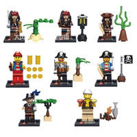 Wholesale 8PCS SY273 Pirates Of the Caribbean Captain Jack Building Bricks Blocks Action Minifigure Kid Toy Compatible With Legofigure DHL Free