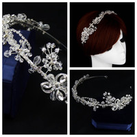 beaded jewelry online - Luxurious Crystal Beaded Headbands Rhinestone Hair Accessories Top Sale Online Head Wear Jewelry Hair Decoration For Ladies Wedding