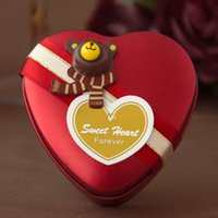 Wholesale 2015 wedding candy boxes gift box heart shaped tin box CM