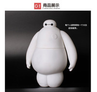 baby piggy banks - 2015 hot selling cm big hero baymax toy baby kid birthday gift Toy Coin Bank Piggy Bank with colors of light from goodmemory