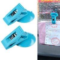 Wholesale Car Sucker Ticket Photo Clip Card Holder Blue K5BO