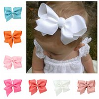 Wholesale Baby Hair Clips DIY Ribbon Bows with Alligator Clips Boutique Hair Accessorise Grosgrain Ribbon Solid Color Bow Hairpins for Girls