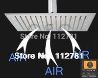 Cheap Exclusive Air Drop Technology!!! Stainless Steel(304) 16 Inch Square Brushed Nickel Overhead Rainfall Shower Head BD018