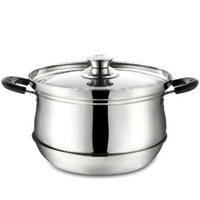 achat en gros de q pot-Gros-Stainless pot 27 * 26 * 19.5cm cuisson conservation pot multifonction stocks pan de chaleur outil de cuisson du pot Saving Q-166