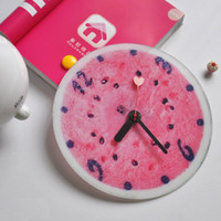 Wholesale Fresh watermelon muted fashion art wall clock with limited money selling DIY Acrylic Several Shippings