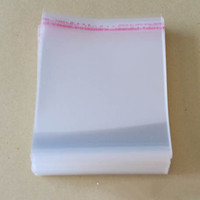 Wholesale 500pcs x8cm Clear Self Adhesive Seal Plastic Bags OPP Express Packing Bag Jewelry Pouch