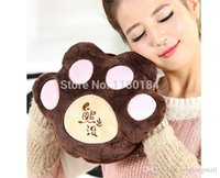 Wholesale Hot selling Style Lovely Cartoon Bear ClawElectric Hot Water Bags Bottles Hands Warmer Bags For Winter A3