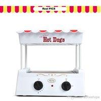 Wholesale 6 Pieces Muffin Hot Dog Maker Machine Hot Dog Cooker Hotdog Maker Hot Dog Toaster BAKER Teppanyaki Break Machine