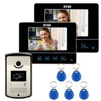 Wholesale New quot LCD Touch Key Video Door Phone Home Entry Intercom RFID Reader Monitor