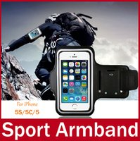 Wholesale Gym Armband Case For iPhone S CNylon Band PVC Window For View Soft Touch Feeling Running Sport Armband Universal Phone Bag