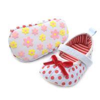 baby velcro shoes - Infants Baby Girl Bowknots Polka Dot Shoes Soft Sole Velcro Prewalker New Arrival