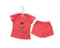 air conditioned suit - Girls cotton T shirt shorts suit children s pyjamas air conditioning