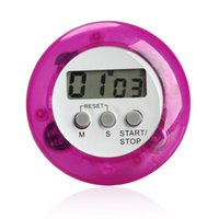 Wholesale V1NF Round Magnetic LCD Digital Kitchen Countdown Timer Alarm with Stand Purple Clearance Sale
