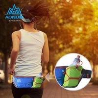 Wholesale AONIJIE Men Women Waist Packs Running Hydration Belts Bottle Holder Belt Reflective Running Water Belt Fanny Pack Free Delivery