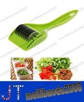 onion slicer - Stainless Steel Blade Green Onion Slicer Garlic Coriander Cutter Chopper Gadget MYY14571