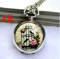 acrylic bird cages - The new series of small bird cage pocket watch necklace vine jewelry Korean sweater hanging chain fashion fashion table