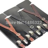 baby leather belt - Baby Boys Girls Clip on Suspender Y Shap Faux Leather Clip on Adjustable Braces Shoulder Belt Brace Boys Girls Trousers Folder