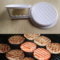 Wholesale Cooking Tools Hamburger Patties Maker Mold Plastic Meat Beef Mould Kitchen Grill White Burger Press