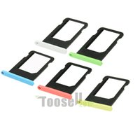 Wholesale 100 Guarantee Original colorful SIM Card Tray Slot holder Replacement for iPhone5C OISTR
