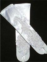 2016 $ 2.99 barato en los guantes blancos Stock marfil con cuentas apliques de encaje sin dedos de novia Accesorios de boda Real Imagen Envío gratis CPA249