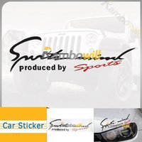 Wholesale Sports Mind Produced By Sports Decal Emblem Badge Car Headlight Taillight Eyerow Sticker Racing Decoration Fit Vehicle Off road Truck SUV