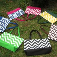 chevron diaper bags - Microfiber Large Chevron Tote Handbag With Magnetic Snap Closure Large Diaper Bag Summer Beach Bags Women s Shoulder Bag