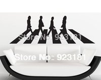 abbey road vinyl - Home Decor Wall Sticker THE BEATLES ABBEY ROAD MUSIC Wall Art Stickers Decal DIY Home Decoration Wall Mural Removable Room