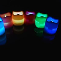 Wholesale New LED candle Lights ficker flameless LED Tealight Tea candles light color changing light chrismas decorations by gardenhome