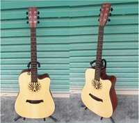 Wholesale Factory can be customized inch folk acoustic guitar spruce laser engraved guitar guitar wood color matte
