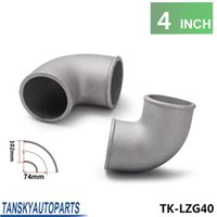 Wholesale TANSKY High Quality Pipe Joiner mm quot Cast Aluminum Degree Elbow Pipe Turbo Intercooler pipe TK LZG40