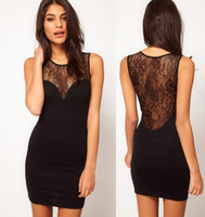 Wholesale sexy Bud silk dress Perspective vest skirt round collar dress girl woman sleeveless dress