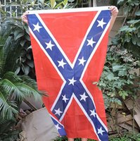 Wholesale New The Truth About the Confederate Battle Flags Two Sides Printed Flag Confederate Rebel Civil War Flag National Polyester Flags