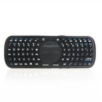 Wholesale 1PC Pazzport Wireless Keyboard G Air Mouse Touchpad Multi touch for Google TV Android SmartTV PC Remote Multi Languange