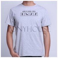 Wholesale HTV JS HOW I ROLL JUDO Top cotton short sleeve T shirt Fashion Brand men t shirt new high quality