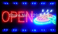 pizza sign - direct selling low power custom led sign inch Ultra Bright flashing semi outdoor for pizza store open signage