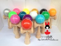 Wholesale kinds of colors factory outlets Boutique Traditional beech Kendama Ball PU Paint pece tribute professional