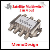 Wholesale 3x4 DiSEqC Satellite MultiSwitch FTA TV LNB Switch Cascade satellite in multiswitch LNB TERR IN For DVB S2 and DVB T2