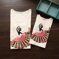 Wholesale 2016 Girls Summer Fashion Family Fitted Cotton Mother And Daughter Top T shirt Kids Training Outfits Children Clothes Women T shirt