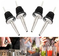 Wholesale Stainless Steel Liquor Spirit Pourer Free Flow Wine Bottle Pour Spout Stopper